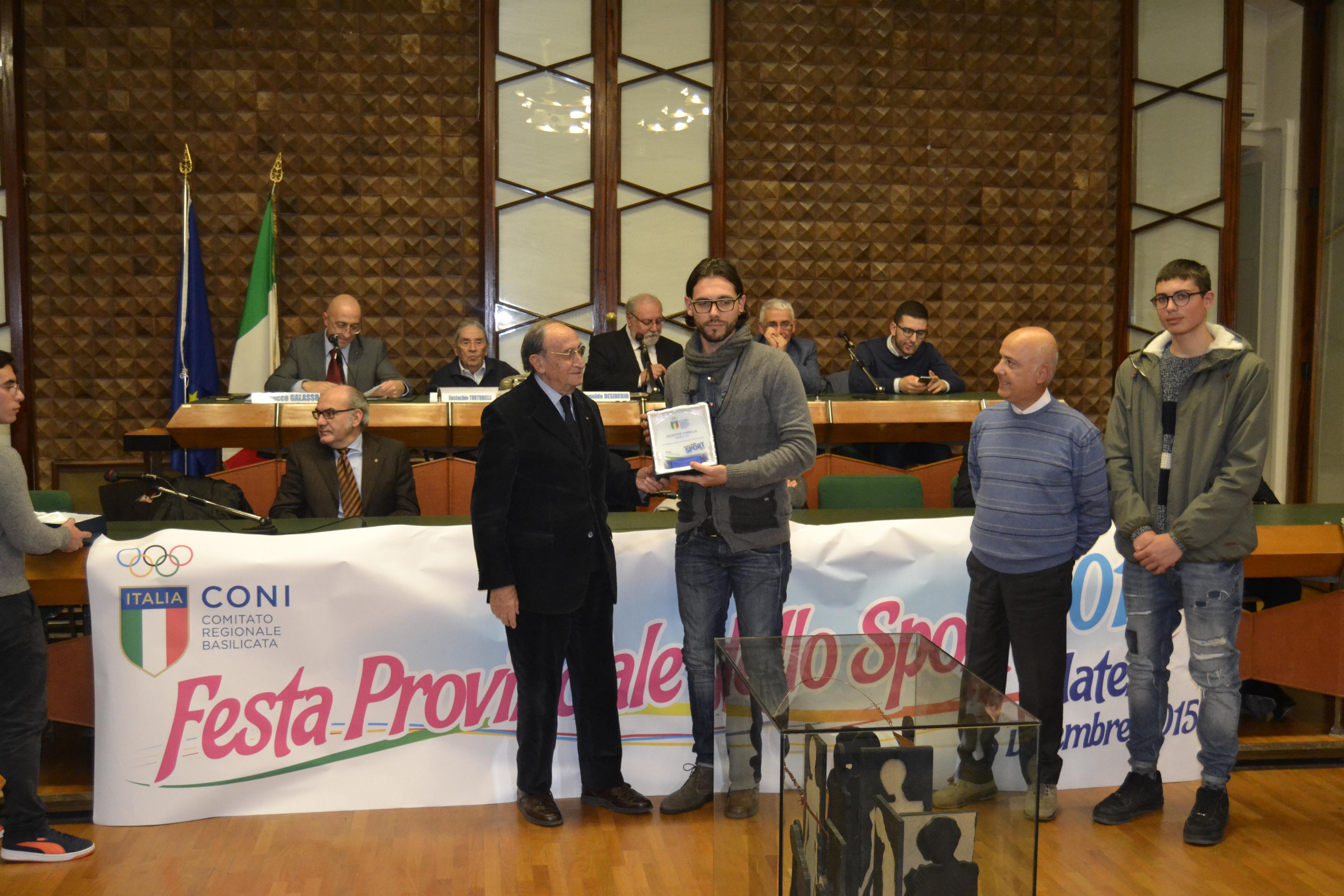 Giuseppe Carella riconoscimento CONI
